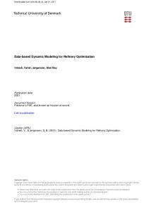 Data-based Dynamic Modeling for Refinery Optimization
