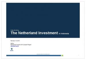 Data Briefing The Netherland Investment In Indonesia