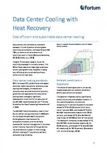 Data Center Cooling with Heat Recovery