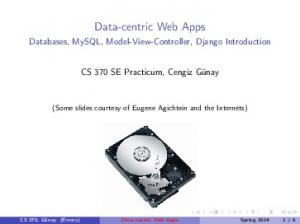 Data-centric Web Apps