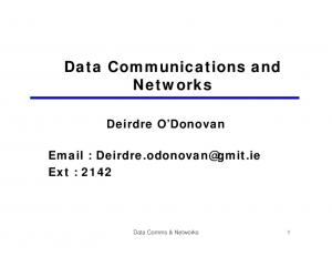 Data Communications and Networks