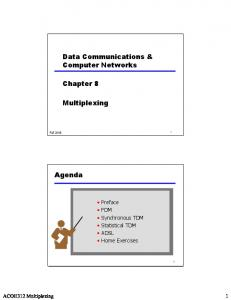 Data Communications & Computer Networks