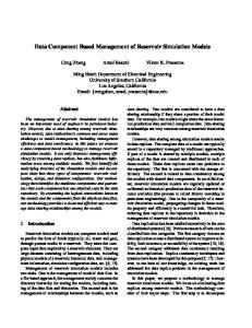 Data Component Based Management of Reservoir Simulation Models