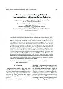 Data Compression for Energy Efficient Communication on Ubiquitous Sensor Networks