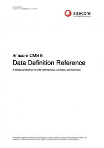 Data Definition Reference