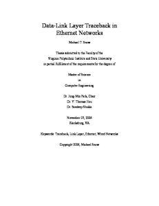 Data-Link Layer Traceback in Ethernet Networks