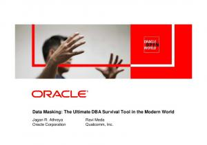 Data Masking: The Ultimate DBA Survival Tool in the Modern World