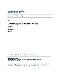 Data mining: a new business process