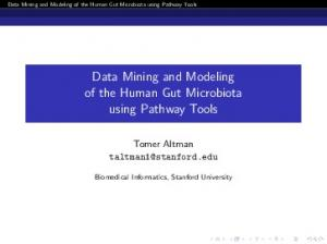 Data Mining and Modeling of the Human Gut Microbiota using Pathway Tools