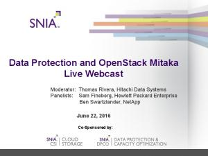 Data Protection and OpenStack Mitaka Live Webcast
