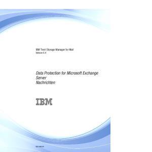 Data Protection for Microsoft Exchange Server Nachrichten