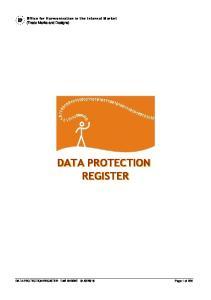 DATA PROTECTION REGISTER DATA PROTECTION REGISTER