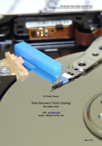 Data Recovery Tools Catalog November 2016