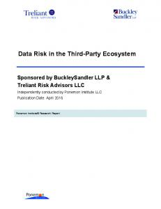 Data Risk in the Third-Party Ecosystem