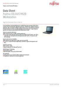 Data Sheet Fujitsu CELSIUS H920 Workstation