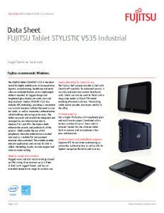 Data Sheet FUJITSU Tablet STYLISTIC V535 Industrial
