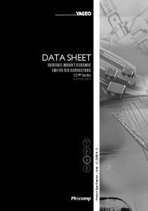 DATA SHEET SURFACE-MOUNT CERAMIC EMI FILTER CAPACITORS X2Y Series 6.3 V TO 100 V