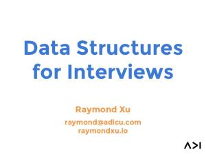 Data Structures for Interviews