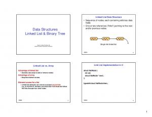 Data Structures Linked List & Binary Tree