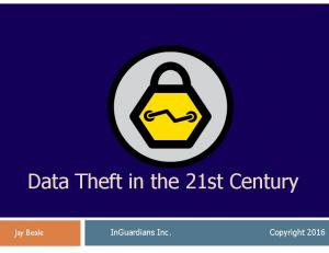 Data Theft in the 21st Century