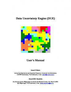 Data Uncertainty Engine (DUE)