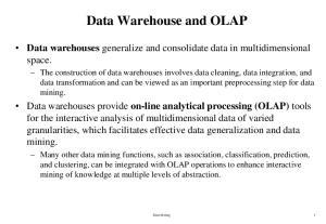 Data Warehouse and OLAP
