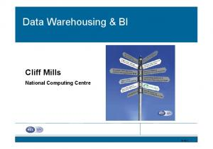 Data Warehousing & BI