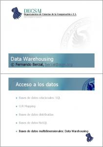 Data Warehousing Fernando Berzal,