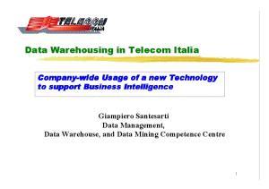 Data Warehousing in Telecom Italia