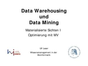 Data Warehousing und Data Mining