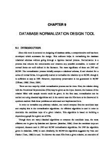 DATABASE NORMALIZATION DESIGN TOOL