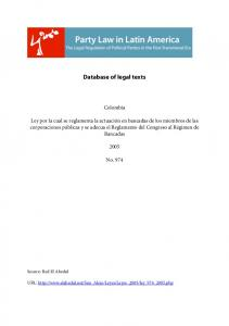Database of legal texts