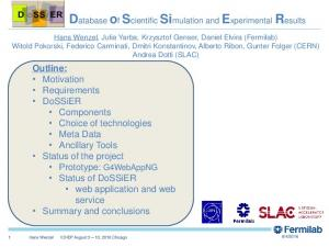 Database of Scientific Simulation and Experimental Results