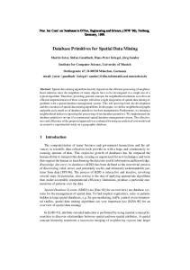 Database Primitives for Spatial Data Mining