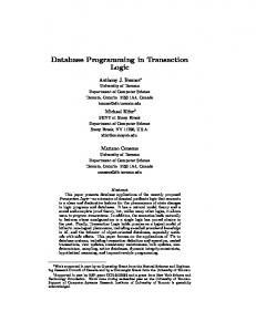 Database Programming in Transaction Logic