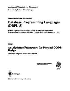 Database Programming Languages (DBPL-5)