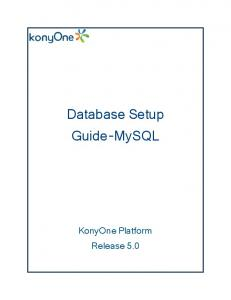 Database Setup Guide-MySQL