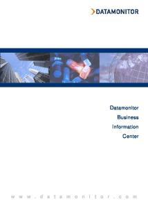 Datamonitor Business Information Center