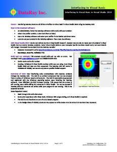 DataRay Inc. Interfacing to Visual Basic
