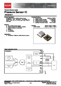 Datasheet. Pressure Sensor series Pressure Sensor IC BM1383AGLV