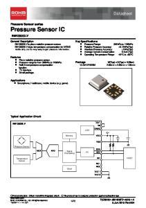 Datasheet. Pressure Sensor series Pressure Sensor IC BM1383GLV