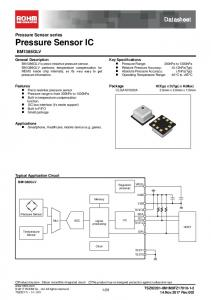 Datasheet. Pressure Sensor series Pressure Sensor IC BM1386GLV