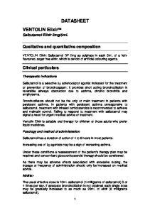 DATASHEET. Qualitative and quantitative composition