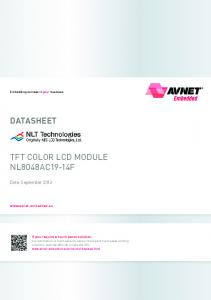 DATASHEET TFT COLOR LCD MODULE NL8048AC19-14F. Date: September