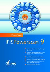 Datasheet. The most productive scanning, indexing and OCR solution