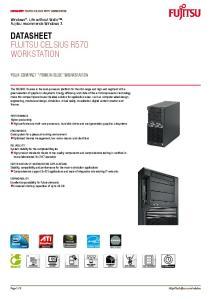 Datasheet. Workstation. Windows. Life without Walls. Fujitsu recommends Windows 7