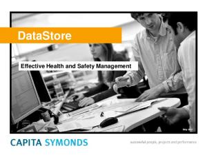 DataStore. Effective Health and Safety Management. May 2011