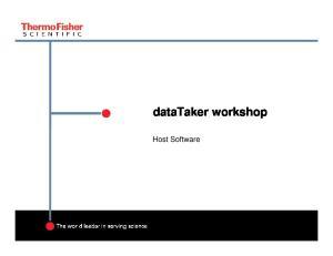 datataker workshop Host Software