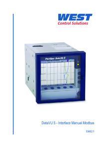 DataVU 5 - Interface Manual Modbus