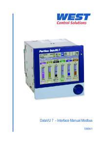 DataVU 7 - Interface Manual Modbus